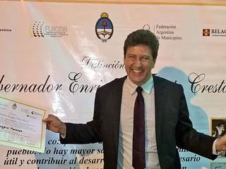 Presidente da ANAMMA recebe prêmio argentino por ações de sustentabilidade