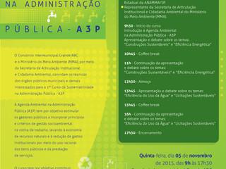 1º Curso de Sustentabilidade na Administração Pública - A3P