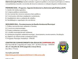 Curso de Sustentabilidade na Administração Pública - Região Sudeste 2018