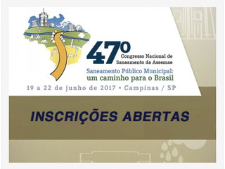 47º Congresso de Saneamento da Assemae: faça sua inscrição
