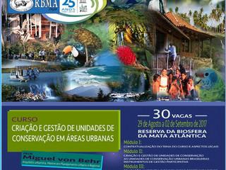 Reserva da Biosfera da Mata Atlântica promove curso inédito em São Paulo sobre unidades de conservaç