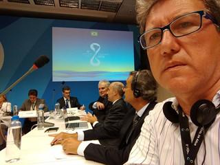 Anamma na mesa ministerial Água para as Cidades a convite do MMA
