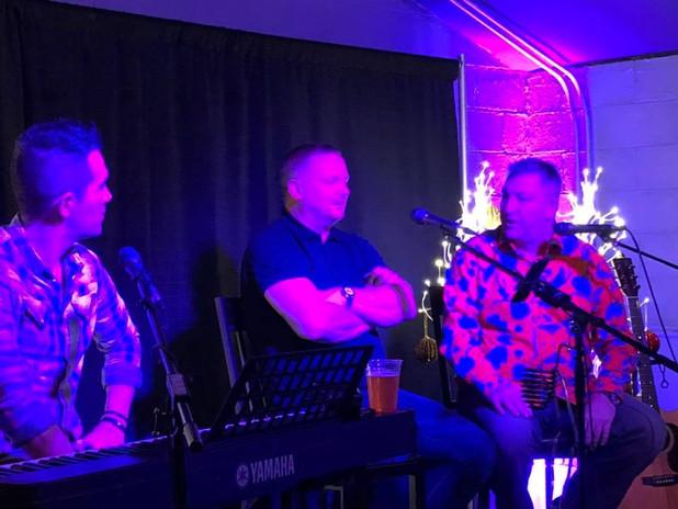 "Mark ""Sulli"" Sullivan, David May, and Norman Whiteside"