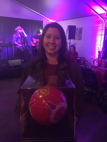 Winner of Soccer Ball signed