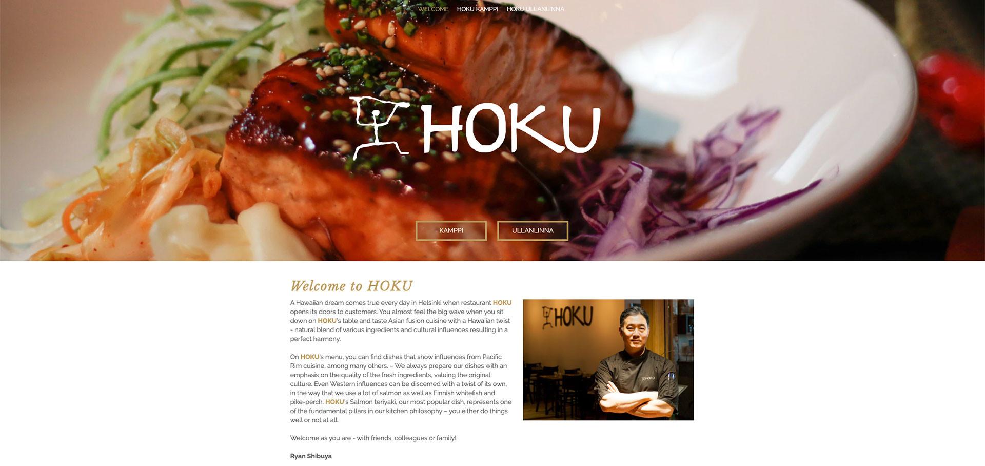 Ravintola HOKU, sivusto 2019