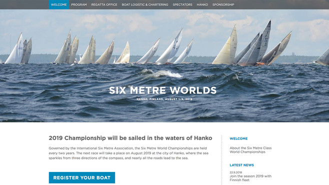 Six Metre World Championship, sivusto 2019