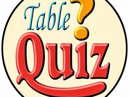 Family Table Quiz