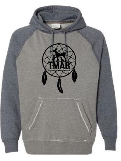 TMAR Logo Hooded Sweatshirt - Grey/Heather Blue