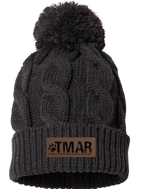 TMAR Chunky Knit Beanie (Charcoal Grey)