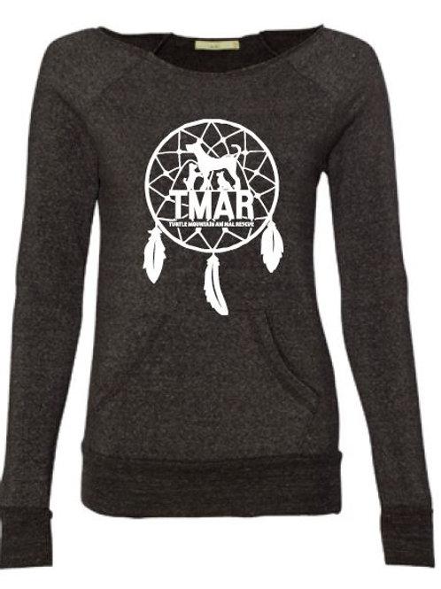 Ladies TMAR Dreamcatcher Logo Sweatshirt - Heather Charcoal