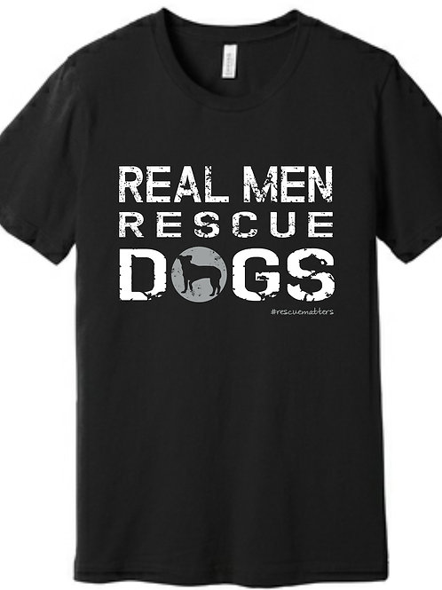 """TMAR """"Real Men Rescue Dogs"""" Tee"""