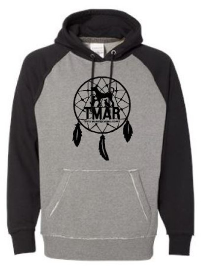 TMAR Logo Hooded Sweatshirt - Grey/Black