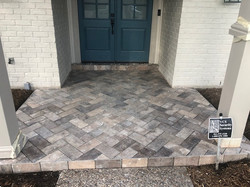 Custom Front Porch with Decorative Tile