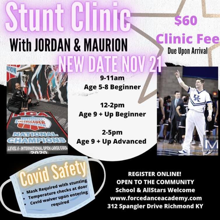 Cheer Stunt Clinic New Date