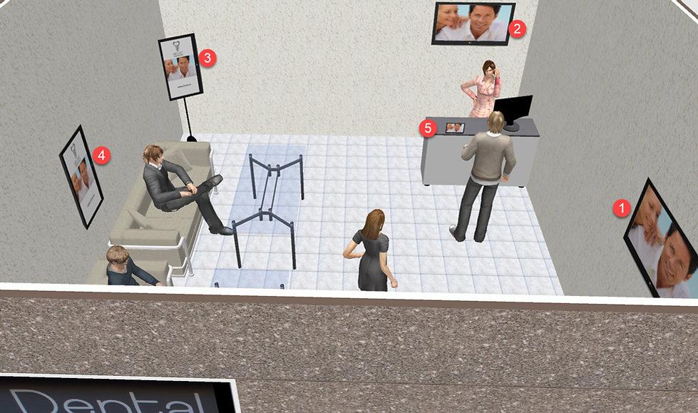 Tipos de pantallas publicitarias en el internior e un local