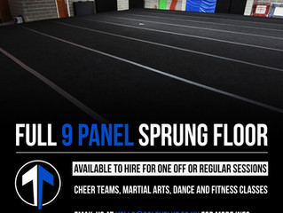 9 Panel sprung floor available to hire!