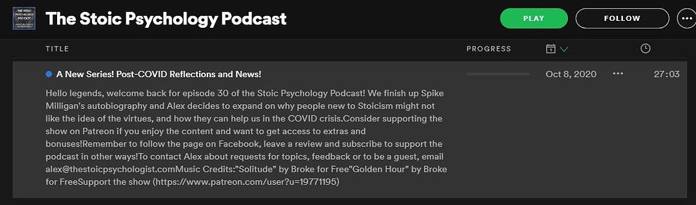Podcast episode summary/description