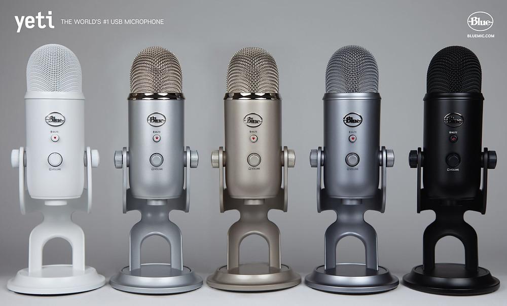 Blu Yeti podcast microphone