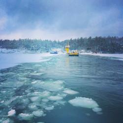 Ferry wintertime