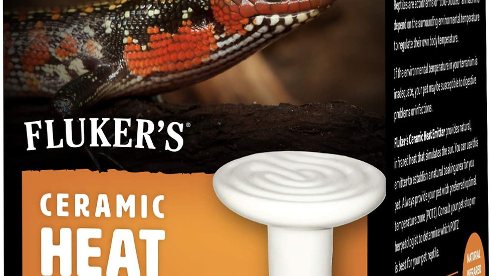 Fluker's Ceramic Heat Emitter- 60w