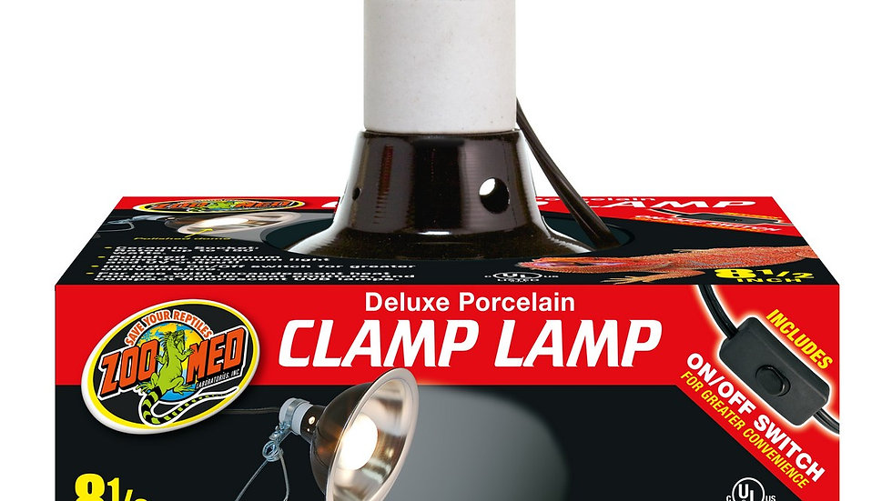 Zoo Med Deluxe Porcelain Clamp Lamp- 8 1/2in