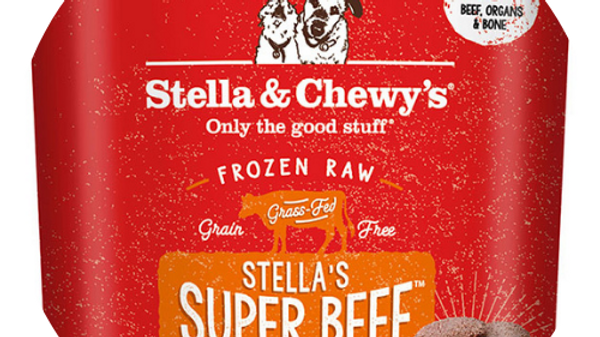 Stella and Chewy's Frozen Raw Beef Patties- 6lbs