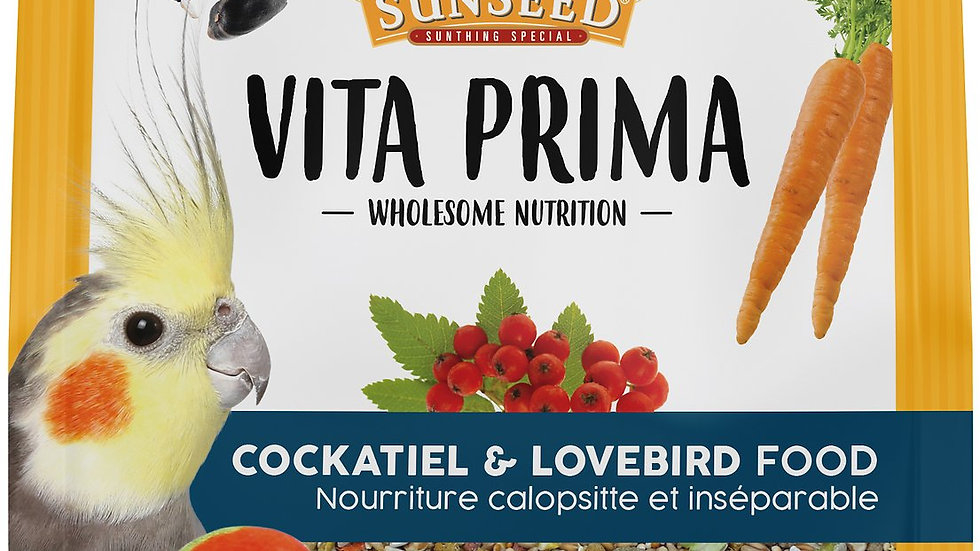Sunseed Vita Prima Cockatiel and Lovebird Food- 3lb