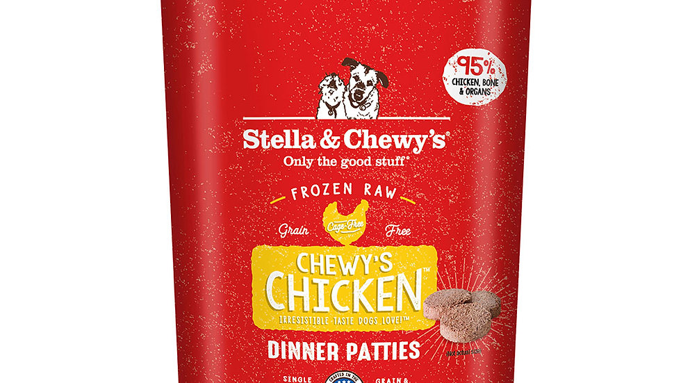 Stella and Chewy's Frozen Raw Chicken Patties- 6lbs