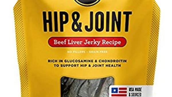 Bixbi Hip and Joint Beef Liver Jerkey Treats for Dogs- 12 oz