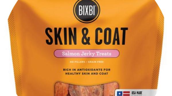 Bixbi Skin and Coat Salmon Jerkey Treats for Dogs- 10 oz