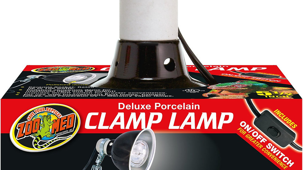 Zoo Med Deluxe Porcelain Clamp Lamp- 5 1/2in