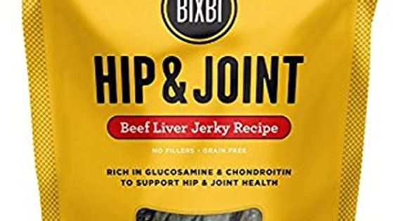 Bixbi Hip and Joint Beef Liver Jerkey Treats for Dogs- 12 oz