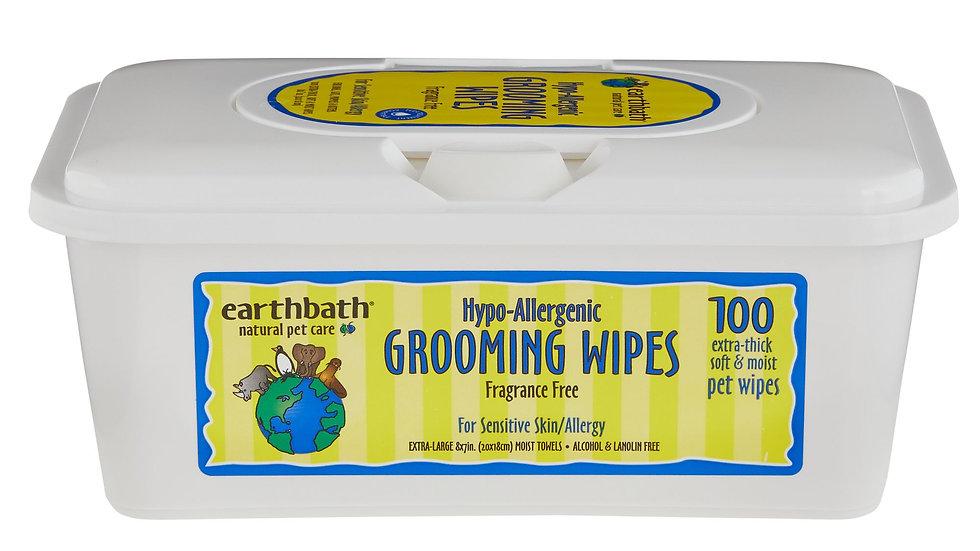 Earthbath Grooming Wipes- Fragrance Free