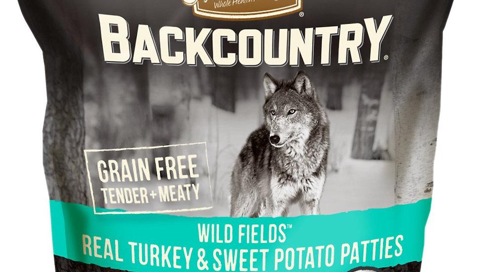 Merrick Backcountry Wild Fields Real Turkey and Sweet Potato Patties Dog Treats
