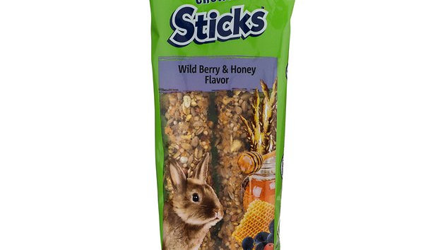 Vitakraft Crunch Sticks- Rabbit- Berry and Honey- 2-pack