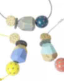 Geo Blok Polygon Component Necklace