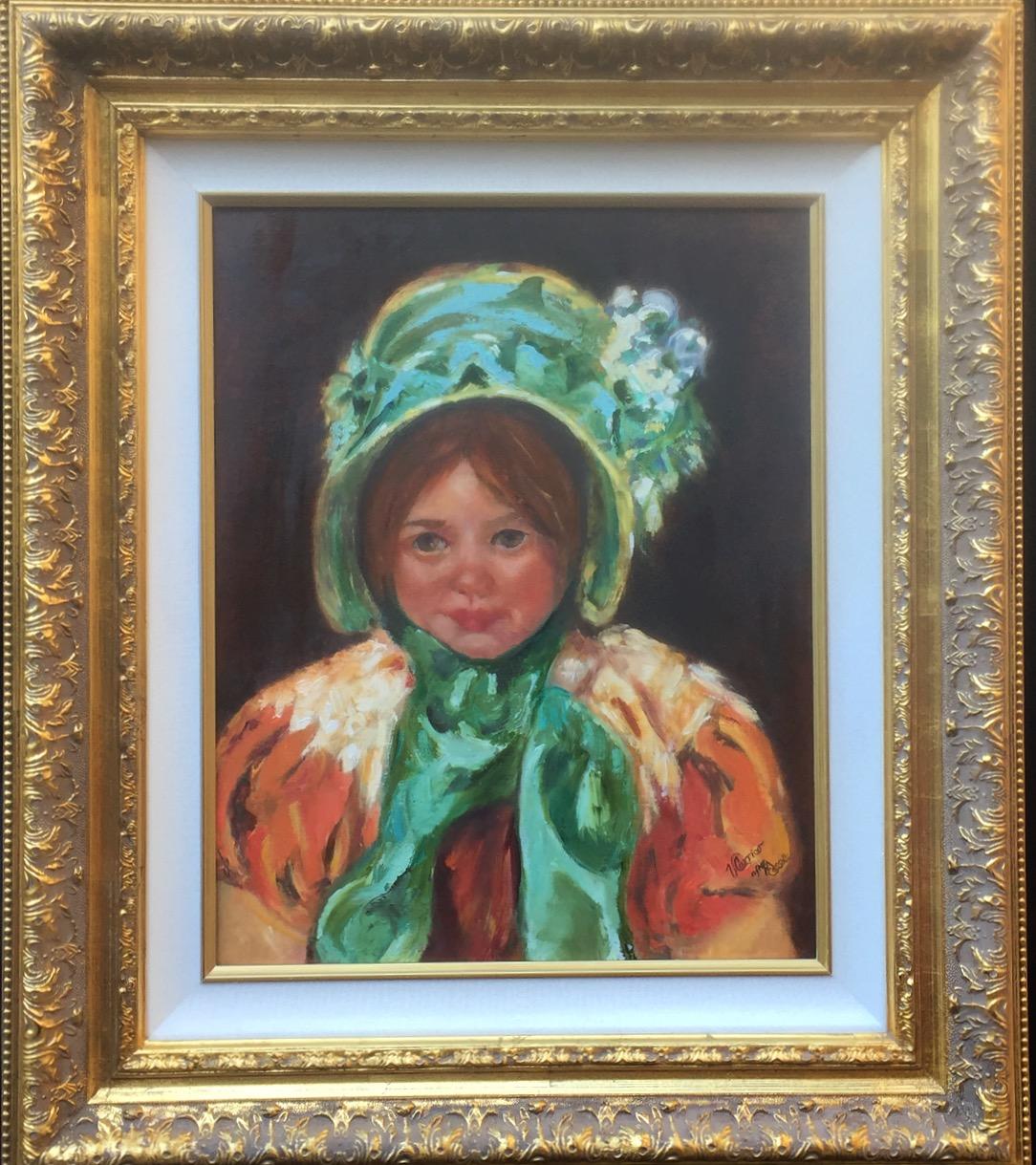 Sarah in a Green Bonnet (Aft Cassat)