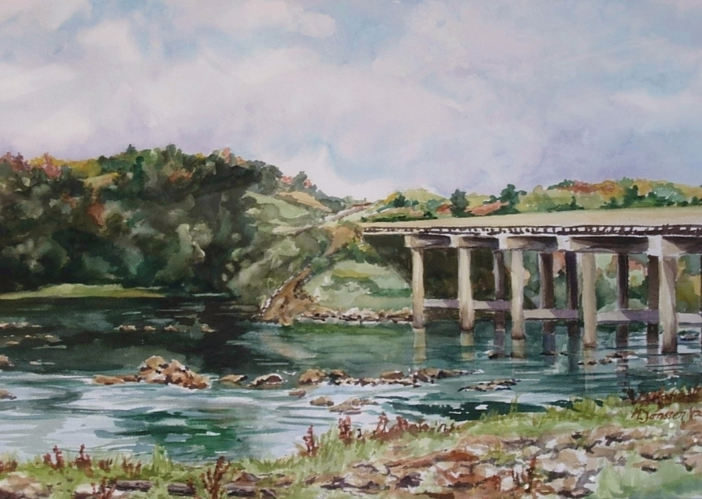 Catawba River Scene-Lookout Shoals