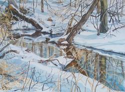 Mine Brook in Winter-2