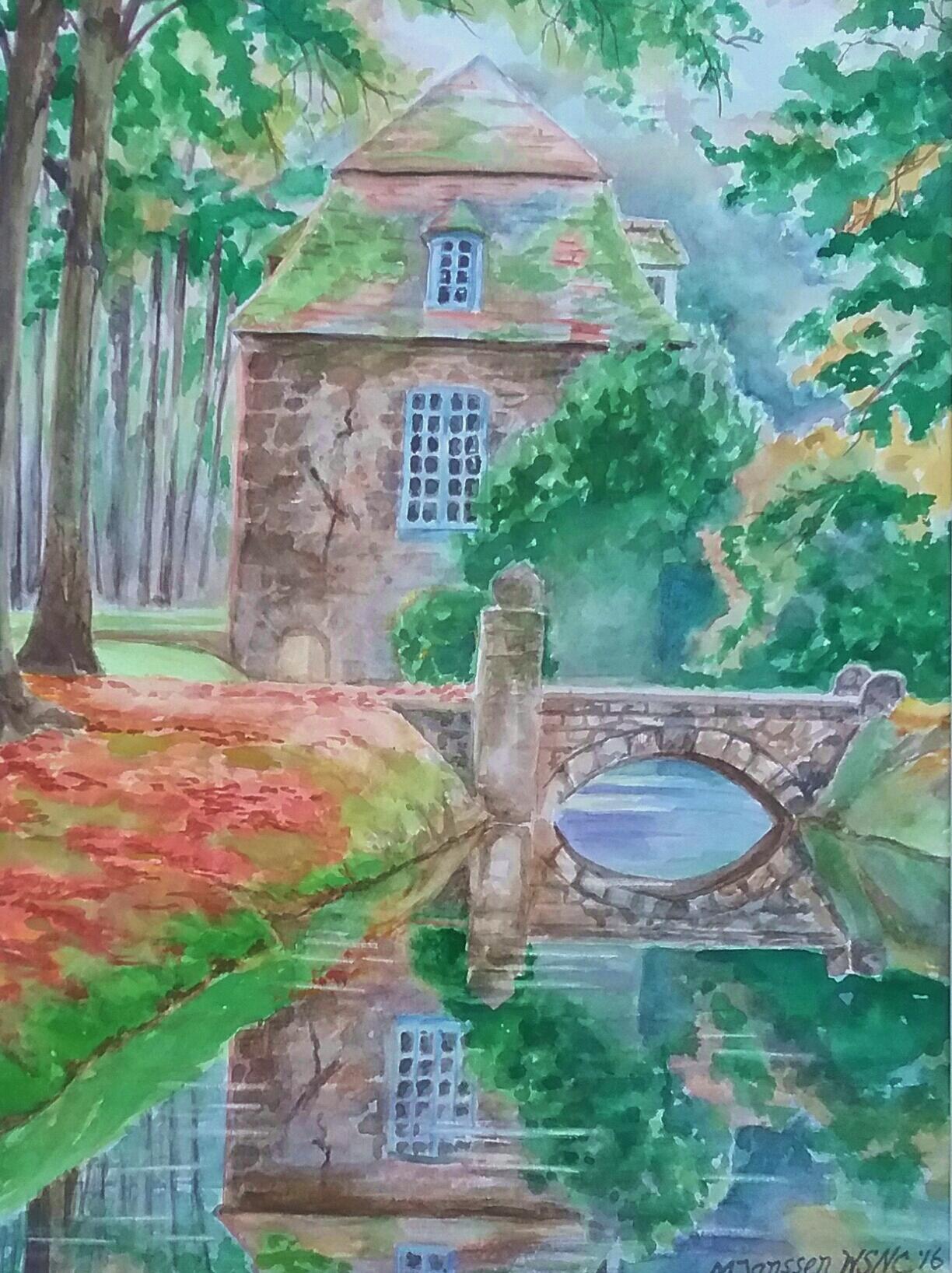 Chateau sur le Cours d'Eau