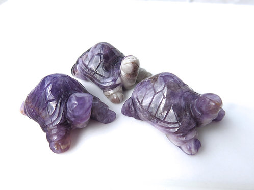 Chevron Amethyst Turtle