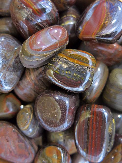 Tiger Iron Tumble Stone