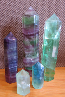 Rainbow Fluorite Points