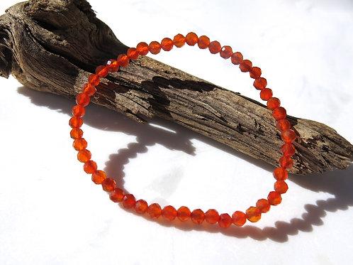 Carnelian Faceted Bracelet
