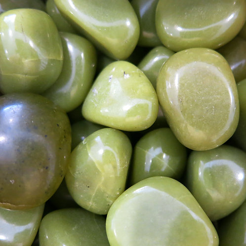 Lime Serpentine Tumble Stone