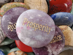 Prosperity on a Lepidolite (with pink to