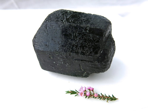 Raw Black Tourmaline Double Terminated Crystal