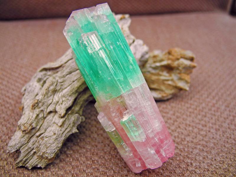 Bi Colour Tourmaline Crystal