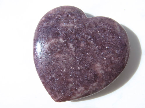 Lepidolite Heart - Big
