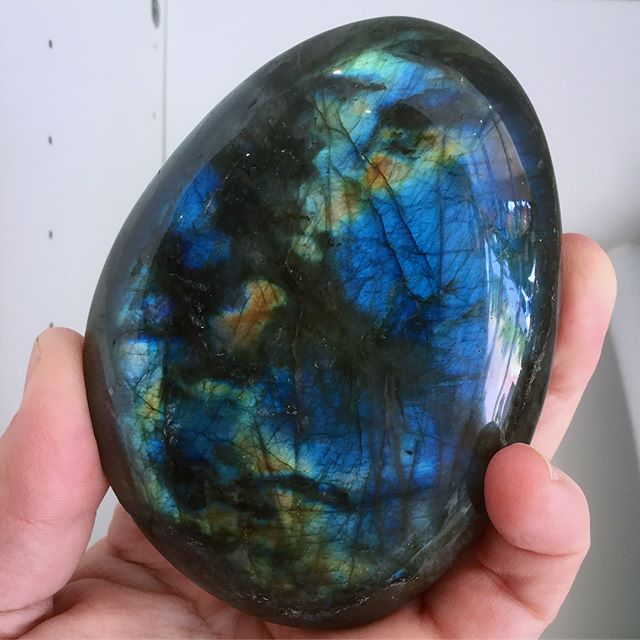 Some peacock coloured Labradorite Labrad